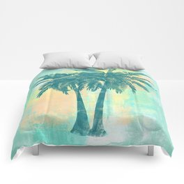 Tropical Palm Trees Comforters