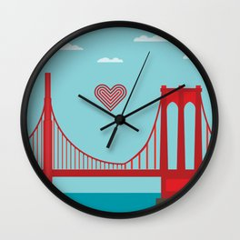 west to east Wall Clock