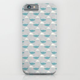 Narwhal grey iPhone Case