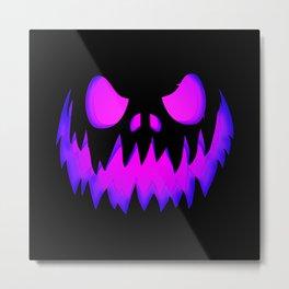 Evil pumpkin purple Metal Print