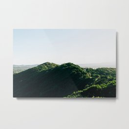 Sun-Kissed Hills Metal Print