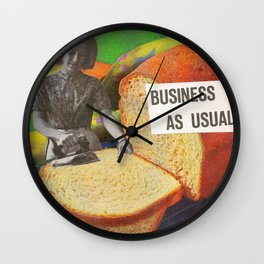 Business as Usual Wall Clock
