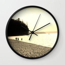 Lakeside Stroll  Wall Clock