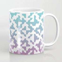 Drunken Path Pattern - Teal and Pink Coffee Mug