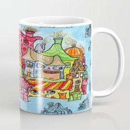 Suburbia USA Watercolor Coffee Mug