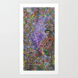 Professor of Weirdness  Art Print