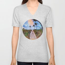 Tropical Sunrise Unisex V-Neck