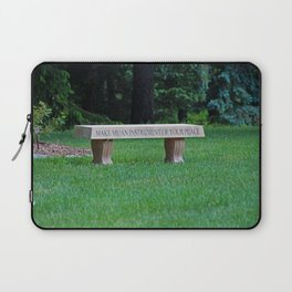 Lourdes University- Make Me an Instrument of Your Peace Laptop Sleeve