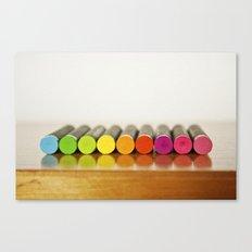 Crayons Canvas Print