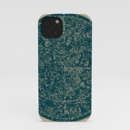 Constellations of the Northern Hemisphere Vintage Paper and Emerald iPhone Case