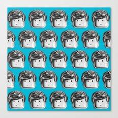 Minifigure Pattern – Blue Canvas Print