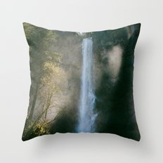 Enchanted Forest Waterfall Throw Pillow
