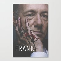 frank underwood Canvas Prints featuring Frank Underwood / House of Cards by Earl of Grey