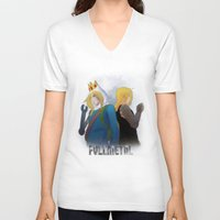 fullmetal alchemist V-neck T-shirts featuring Fullmetal by Witchy