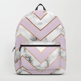 Marble background with gold details VII Backpack