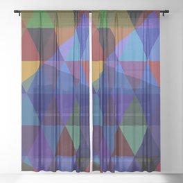 Abstract #235 Sheer Curtain