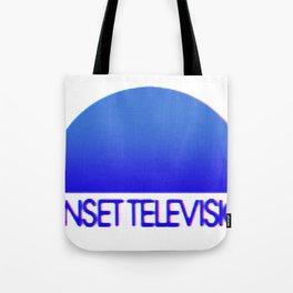 Sunset Television Logo Blue Tote Bag