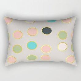 gold and tutti fruit polka dots Rectangular Pillow