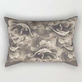 Sepia Peony Flower Bouquet #1 #floral #decor #art #society6 Rectangular Pillow