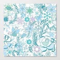 Bright xmas pattern Canvas Print