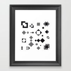 Decomposition in black Framed Art Print