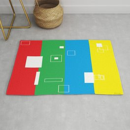 Simple Color Primary Colors Rug