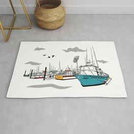 Tillamook Coast Travel Print Rug