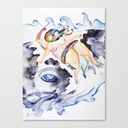 Swimmer, Too Canvas Print