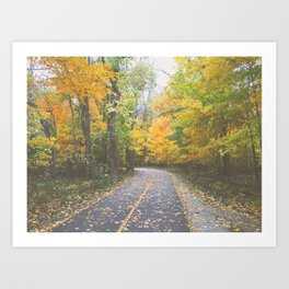 Hazy Fall Art Print