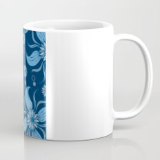 Floral Obscura Dark Blue Mug