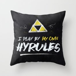 Legend of Zelda Inspired Type I Play by My Own Hyrules Throw Pillow