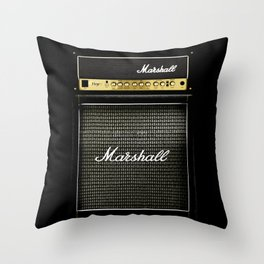 Gray amp amplifier Throw Pillow