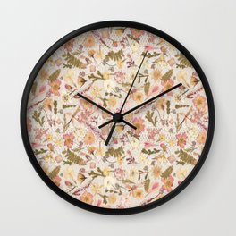 Roses and Lace Wall Clock