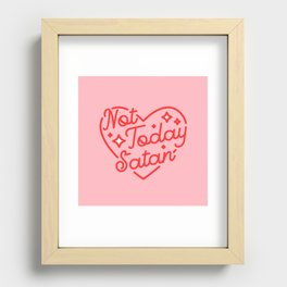 not today satan II Recessed Framed Print