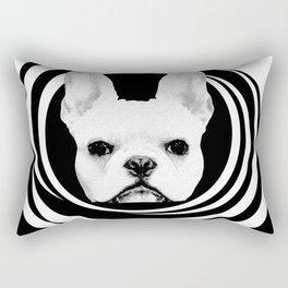 Frenchie Retro Disco Dog #1 #decor #art #society6 Rectangular Pillow