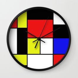 Mondrian #21 Wall Clock