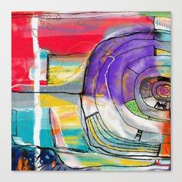Abstract Summer Land Canvas Print