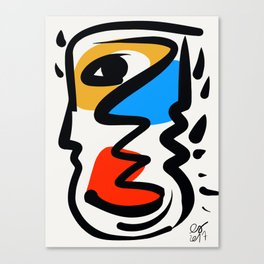 P was in my head ??? Canvas Print
