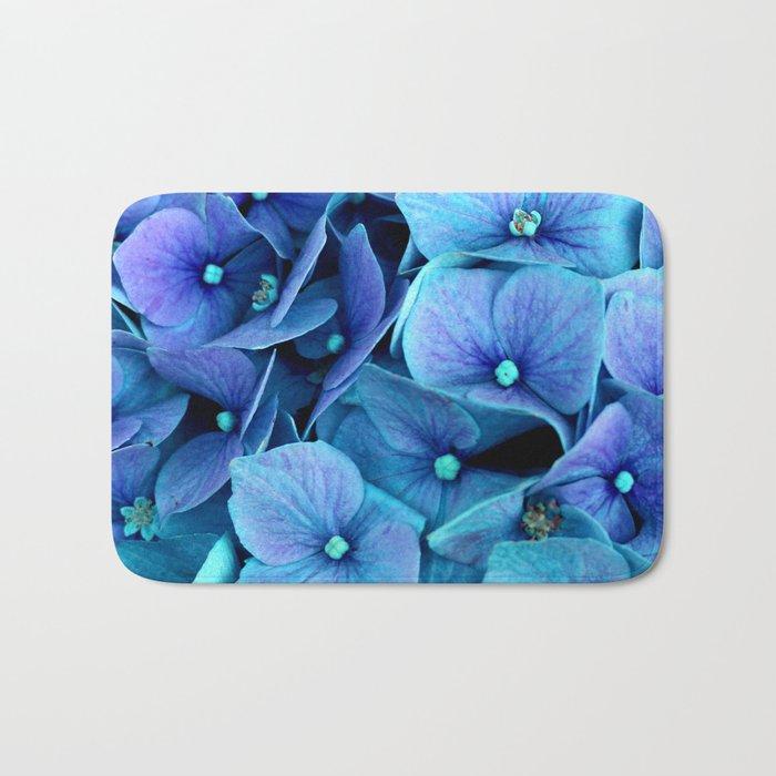 Purple Blue hydrangea Bath Mat