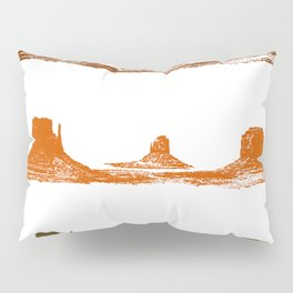Monument Valley, 3 mountains, 3 colors Pillow Sham