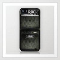 rock n roll Art Prints featuring Rock N´Roll amplifier by Nicklas Gustafsson