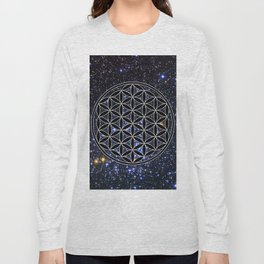 Flower of life in the space Long Sleeve T-shirt