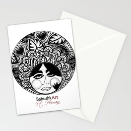 Babushkart Black & Whiet by: Irit Heimann Stationery Cards