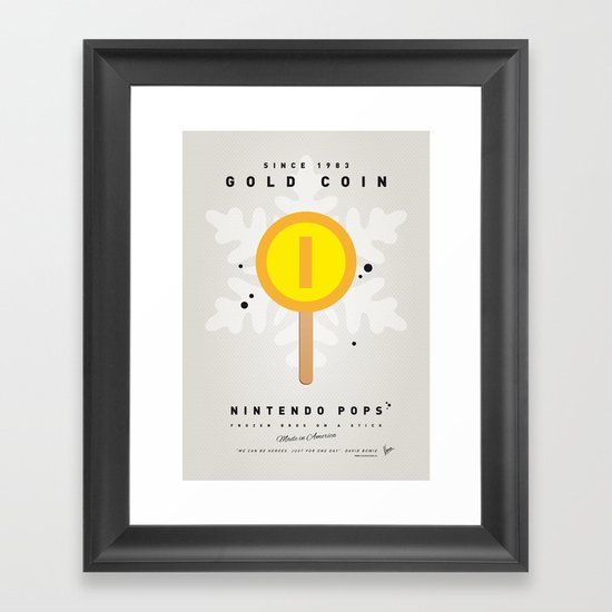My NINTENDO ICE POP - Gold Coin Framed Art Print