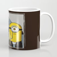 gothic Mugs featuring Minion Gothic by le.duc