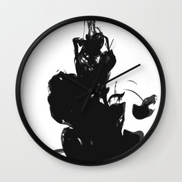 """"""" Abstract Collection """" - Abstract Ink Strokes Wall Clock"""