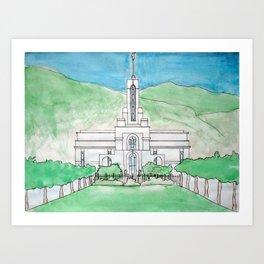 Mt. Timpanogos Temple Art Print