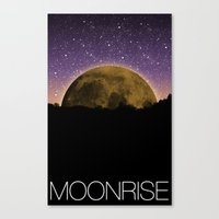 moonrise Canvas Prints featuring Moonrise by AWOwens