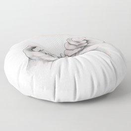 pinky swear // hand study Floor Pillow