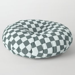Checkerboard Pattern Inspired By Night Watch PPG1145-7 & Cave Pearl PPG1145-3 Floor Pillow